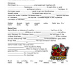 Christmas Cloze Worksheet
