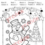 Christmas Colorcode - Christmas Coloring Pages - Numbers