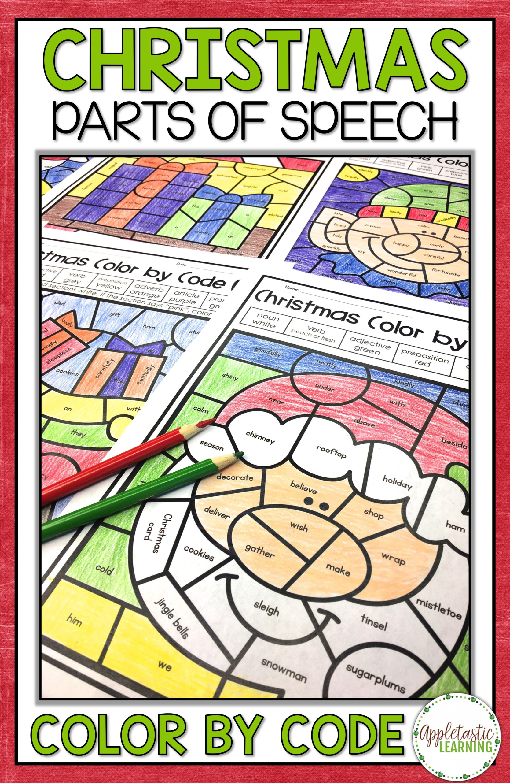 Christmas Coloring Pages For Big Kids With Parts Of Speech