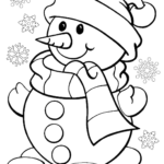 Christmas Coloring Pages | Snowman Coloring Pages, Christmas