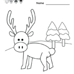 Christmas Coloring Worksheet - Free Kindergarten Holiday