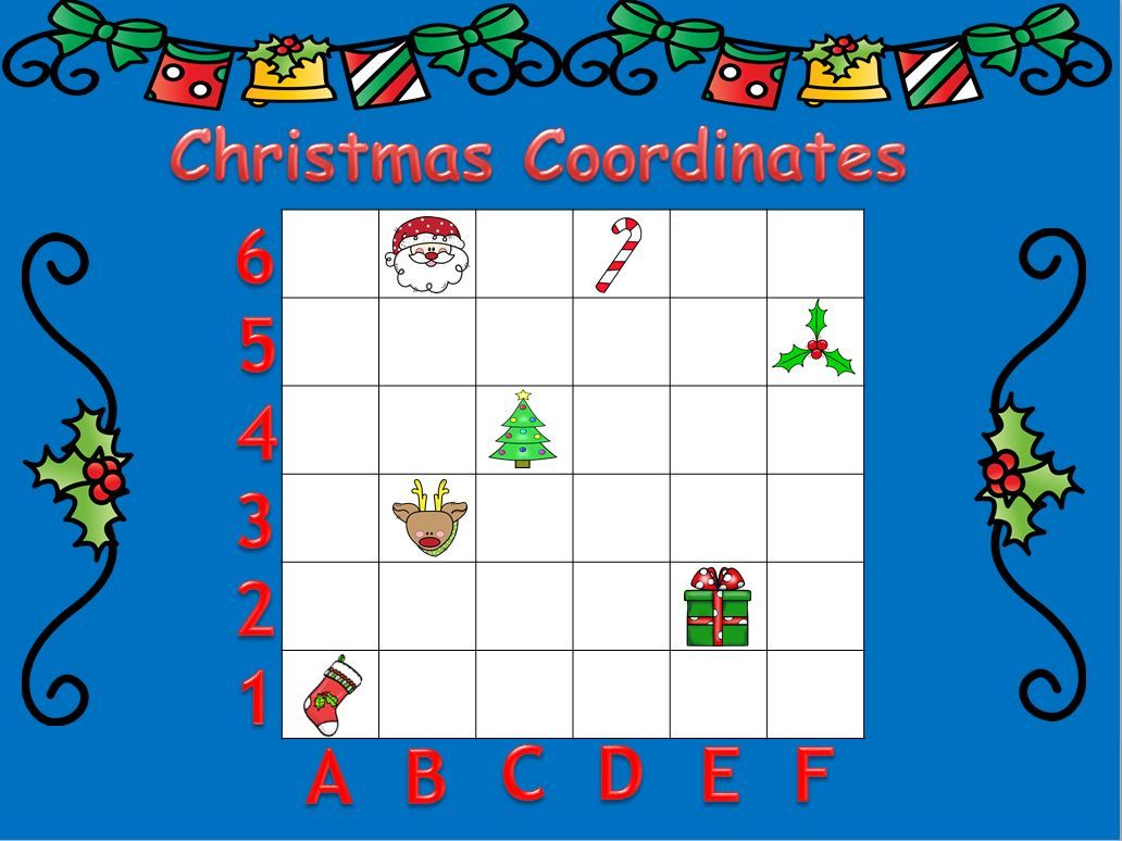 Christmas Coordinates | Christmas Math Activities, Map