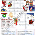 Christmas Crossword (05.12.2008) - Esl Worksheetemila