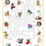 Christmas Crossword + Key - English Esl Worksheets For