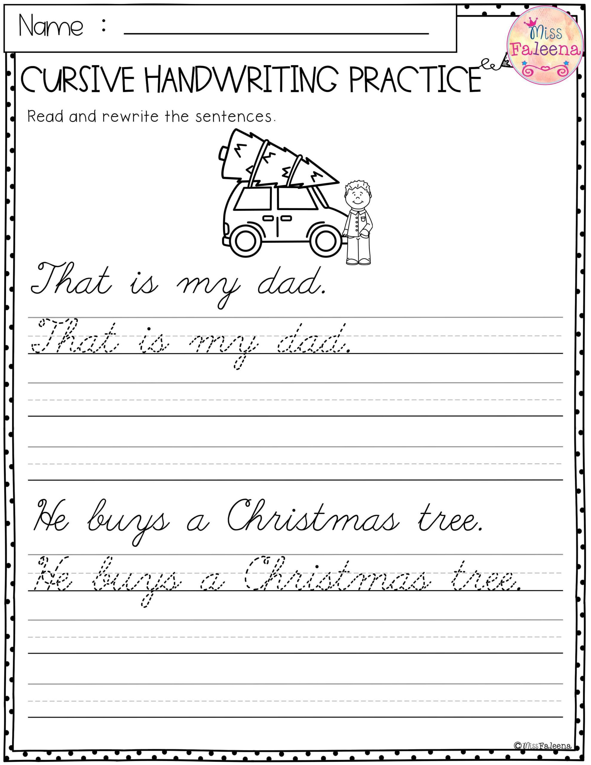 Christmas Cursive Handwriting Practice Has 25 Pages Of