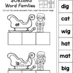 Christmas Cvc Words - Freebies - Kindergarten And First