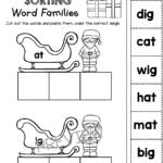 Christmas Cvc Words Freebies Kindergarten And First | Cvc