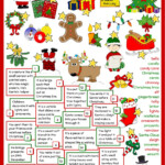 Christmas - Definitions Worksheet