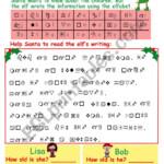 Christmas Elfabet Codebreaker Worksheet - Esl Worksheet