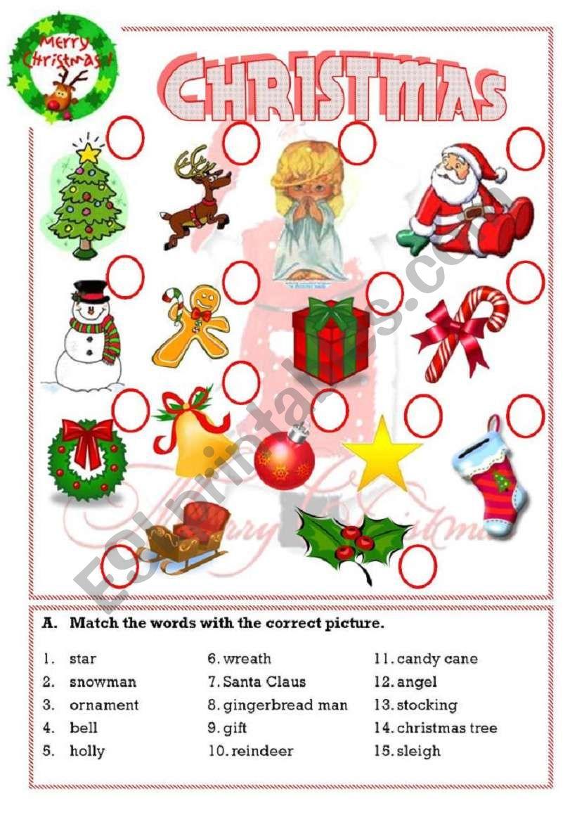 Christmas - Esl Worksheetisaserra
