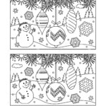 Christmas Find Difference Stock Illustrations – 345