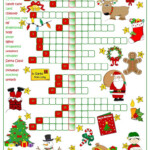Christmas Fun - Crossword - English Esl Worksheets For