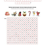 Christmas Fun With A Hidden Message - English Esl Worksheets