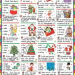 Christmas Grammar Quiz (Key Included) - Esl Worksheetkatiana