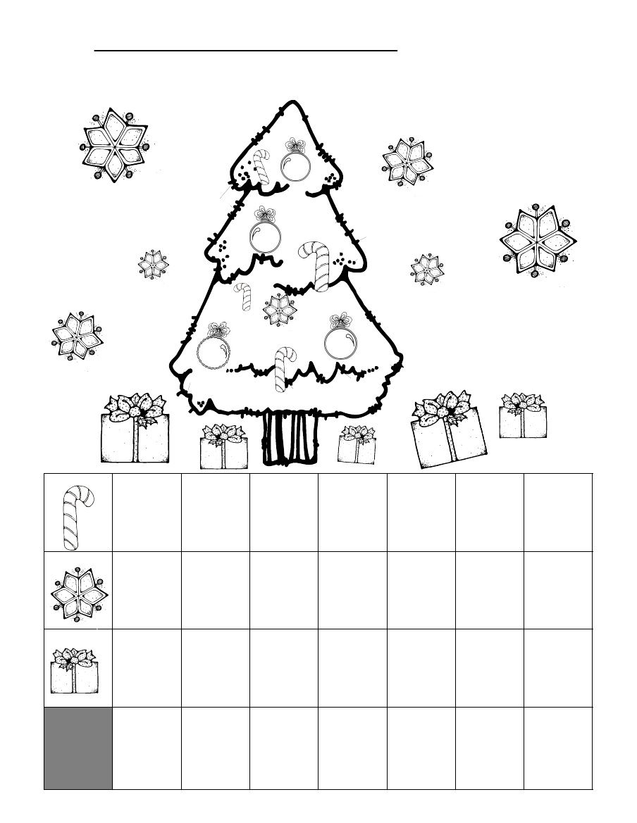 Christmas Graphing Worksheet   Kindergarten Math Worksheets