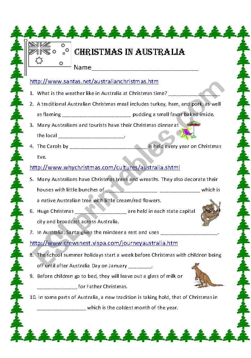 Christmas In Australia - Esl Worksheetbechunter