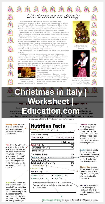 Christmas In Italy | Worksheet | Education, 2020