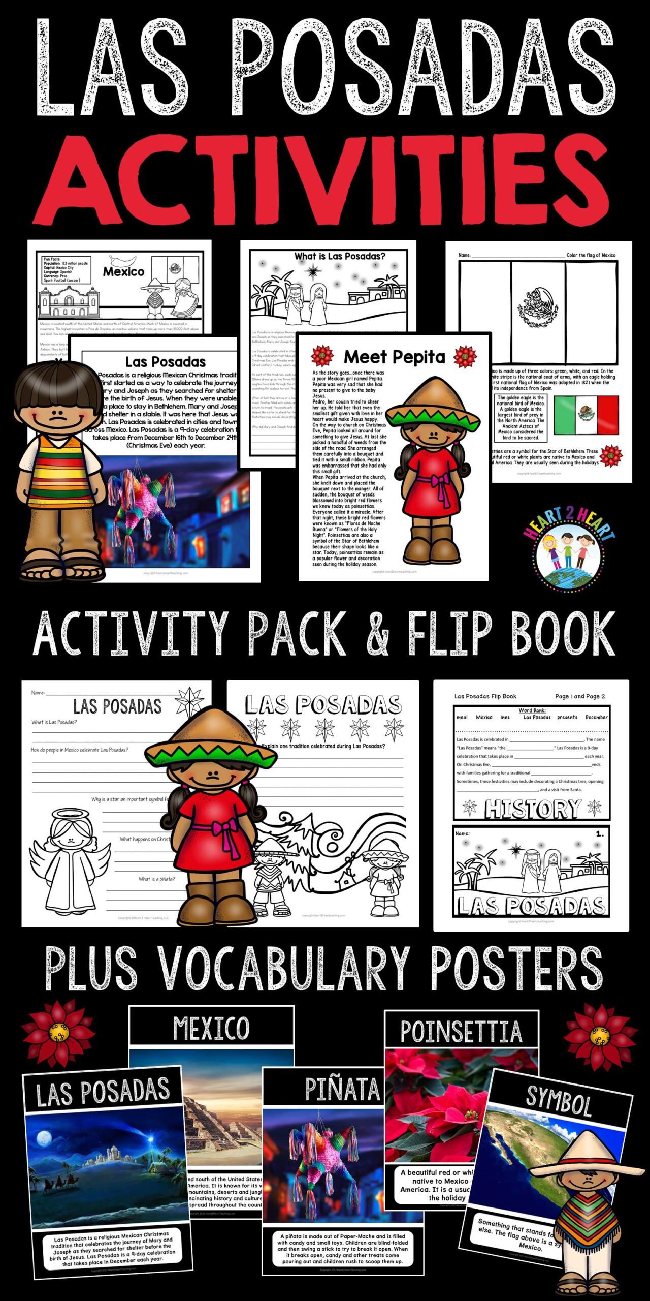 Christmas In Mexico: Las Posadas Activities And Flip Book