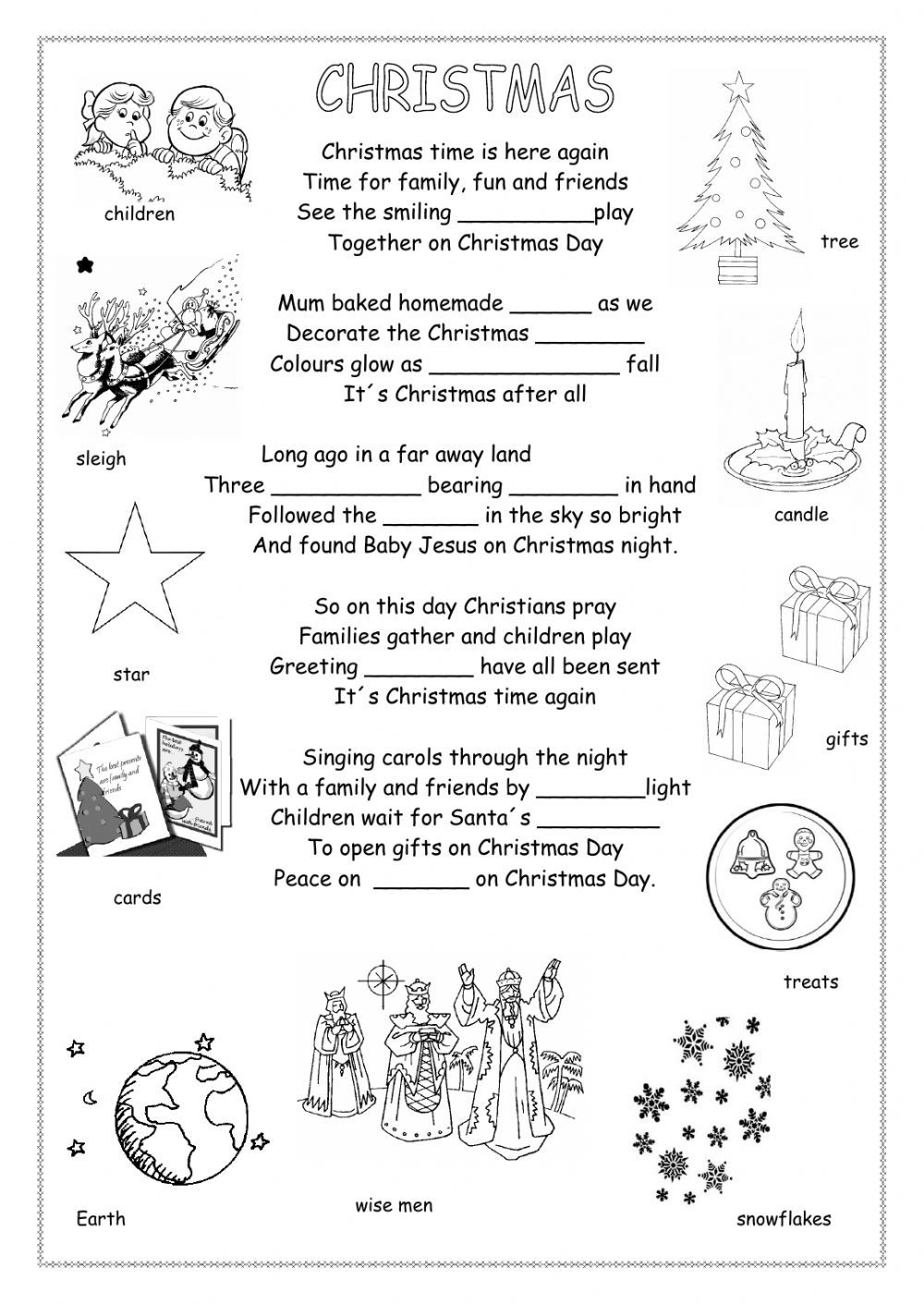 Christmas Interactive And Downloadable Worksheet. You Can Do