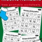 Christmas Missing Numbers Worksheets   Christmas Worksheets