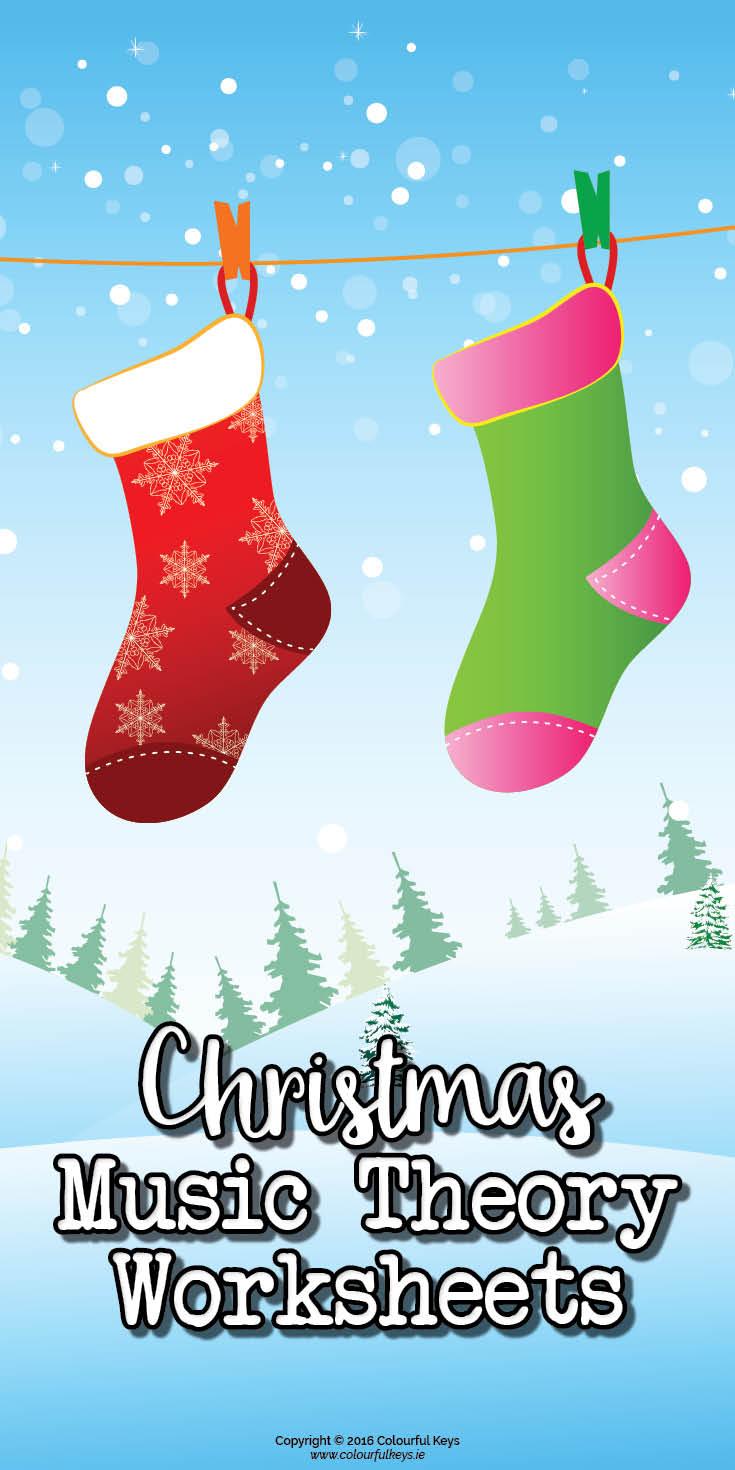 Christmas Music Theory Worksheets: Matching Christmas