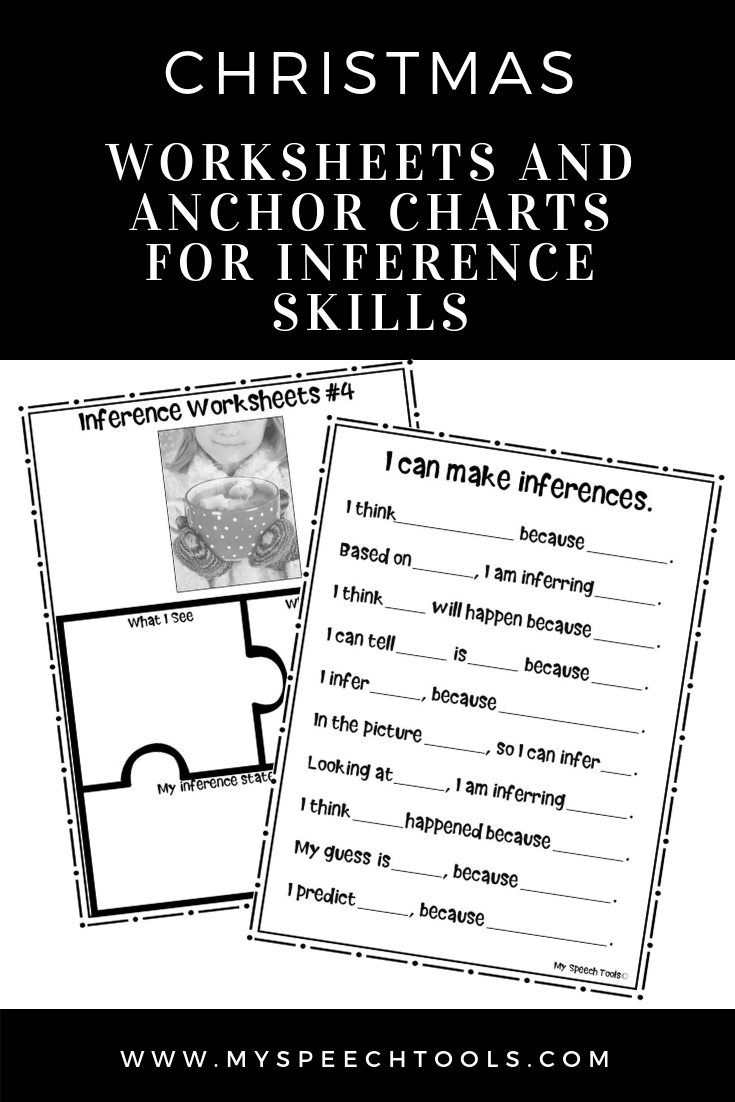 Christmas No-Prep Inference Worksheets For Speech Therapy