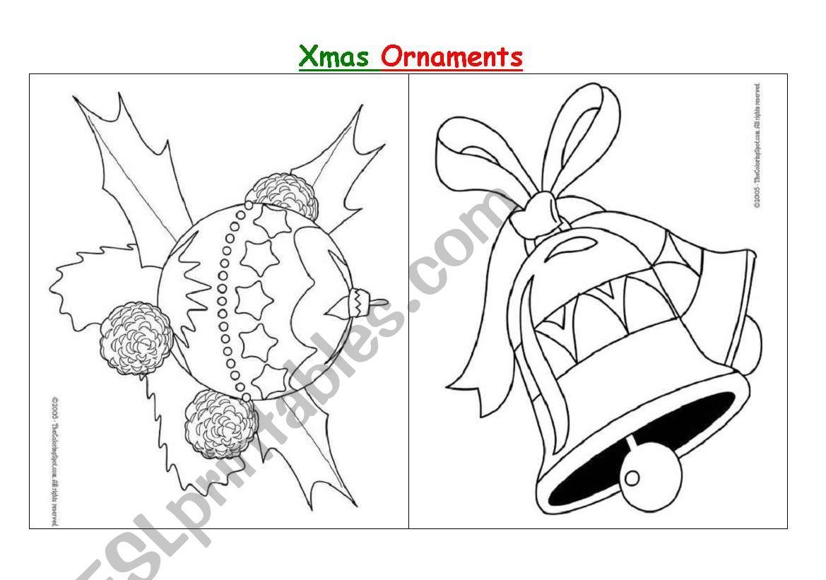 Christmas Ornaments - Esl Worksheetdiana Parracho