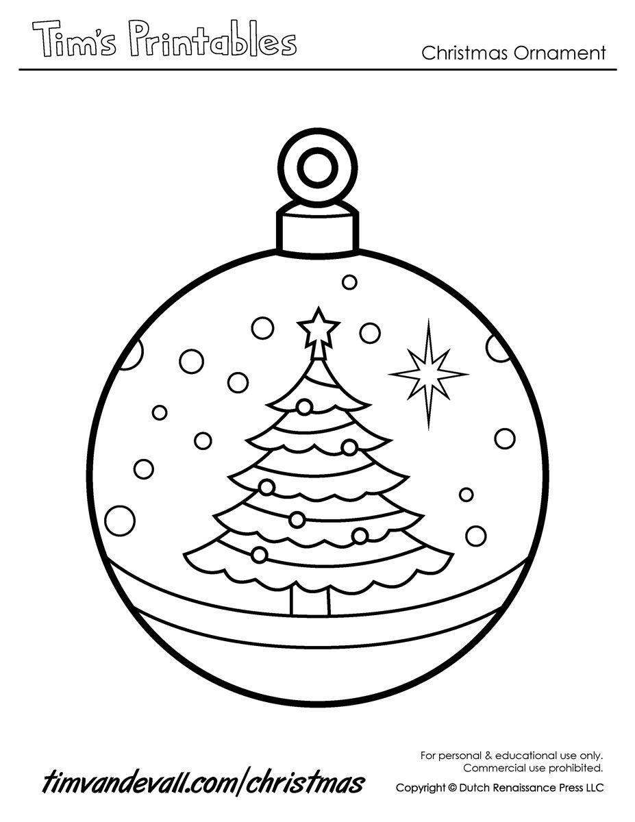 Christmas Ornaments To Print | Printable Paper Christmas