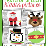 Christmas Parts Of Speech: Hidden Mystery Pictures | Mystery