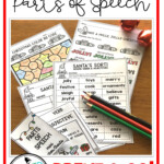 Christmas Parts Of Speech | Parts Of Speech Worksheets