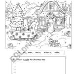 Christmas Prepositions - Esl Worksheetbusanite