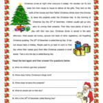 Christmas Reading Comprehension Worksheets | Christmas