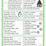 Christmas Rhymes | Christmas Worksheets, English Rhymes