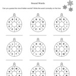 Christmas Round Words - English Esl Worksheets For Distance