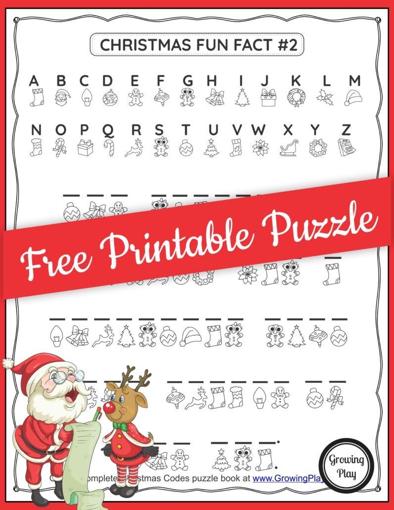 Christmas Secret Code Worksheet - Free Printable - Growing