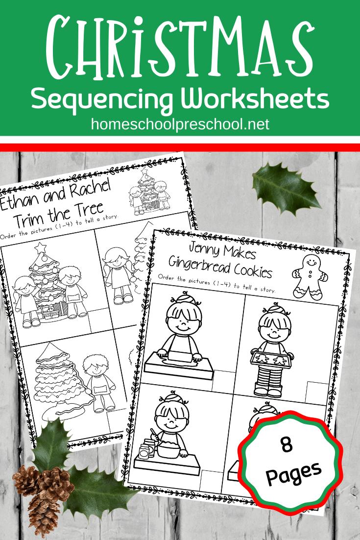 Christmas Sequence Worksheet Pack   Christmas Worksheets