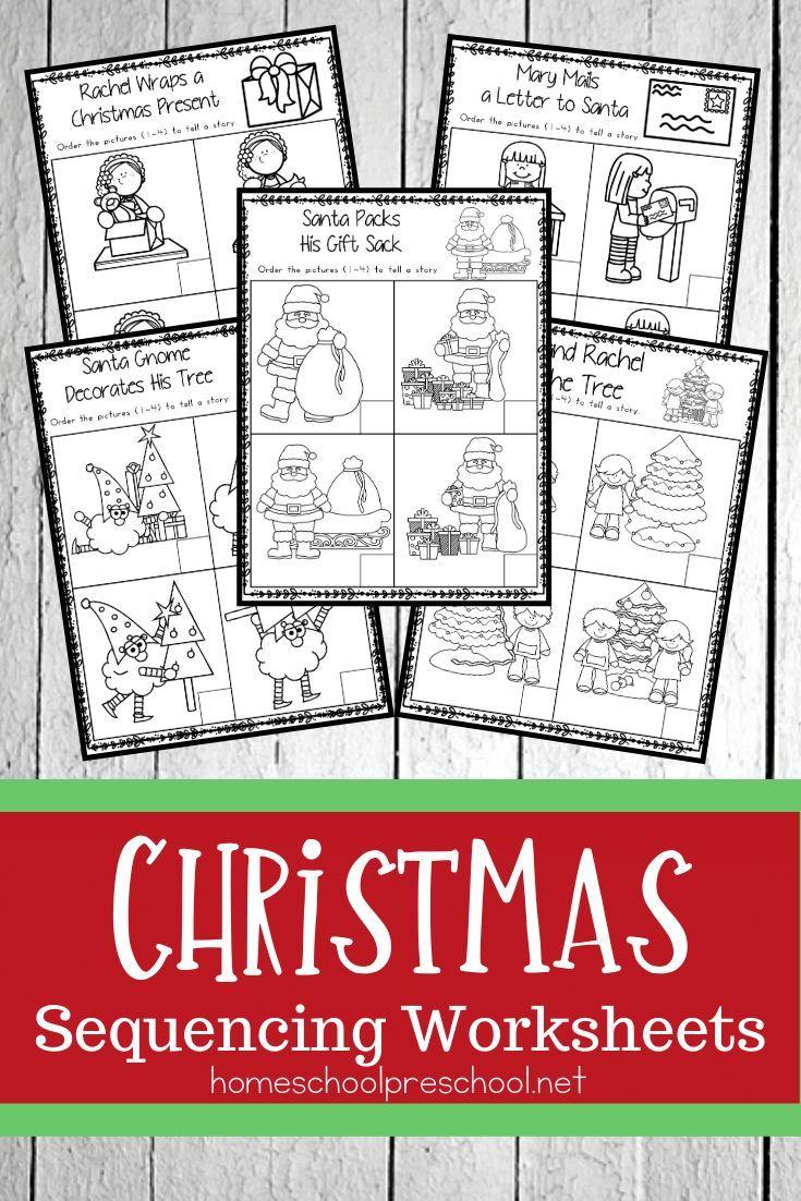 Christmas Sequence Worksheet Pack   Preschool Christmas