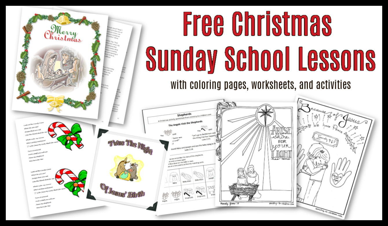 Christmas Sunday School Lessons & Activities - Sunday School