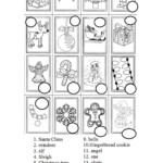 Christmas Symbols Practice - English Esl Worksheets For