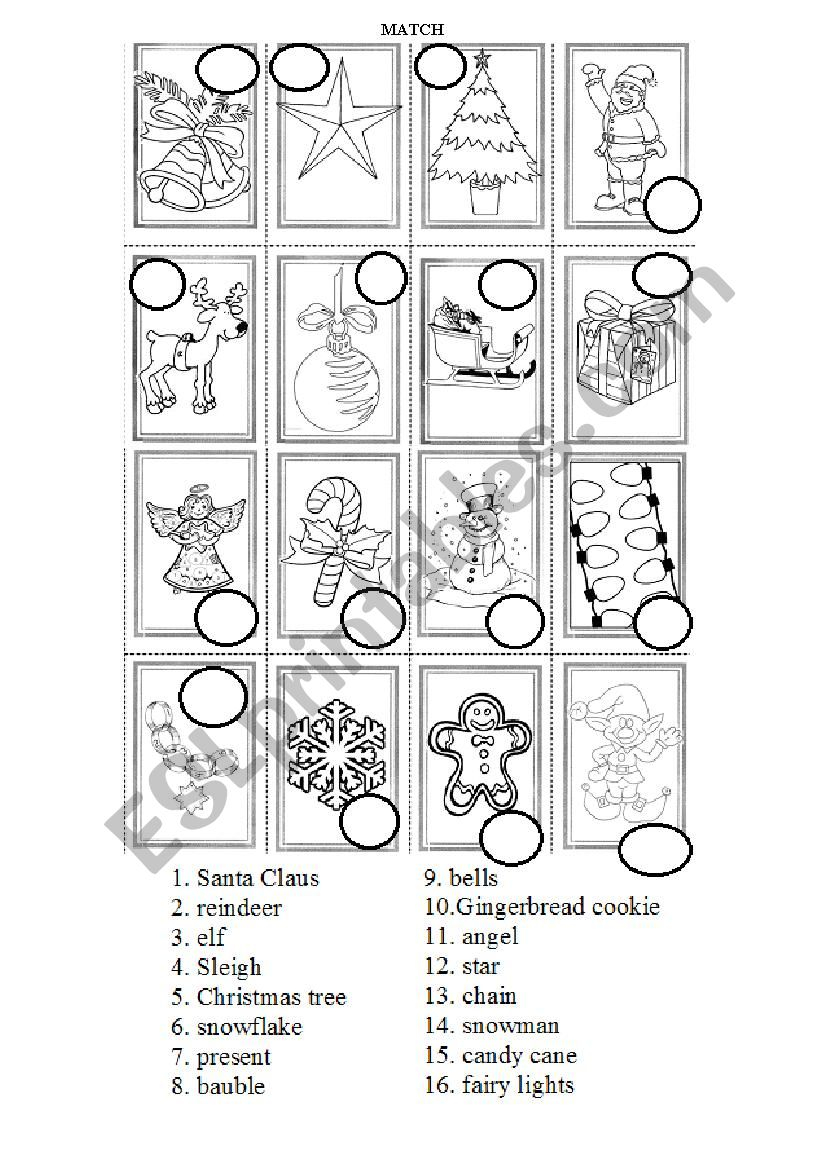 Christmas Symbols Practice - Esl Worksheetmati.rowce