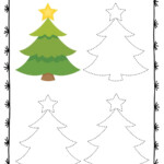 Christmas Symbols Tracing Worksheets - Preschool Mom