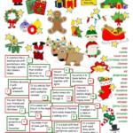 Christmas Time - English Esl Worksheets For Distance