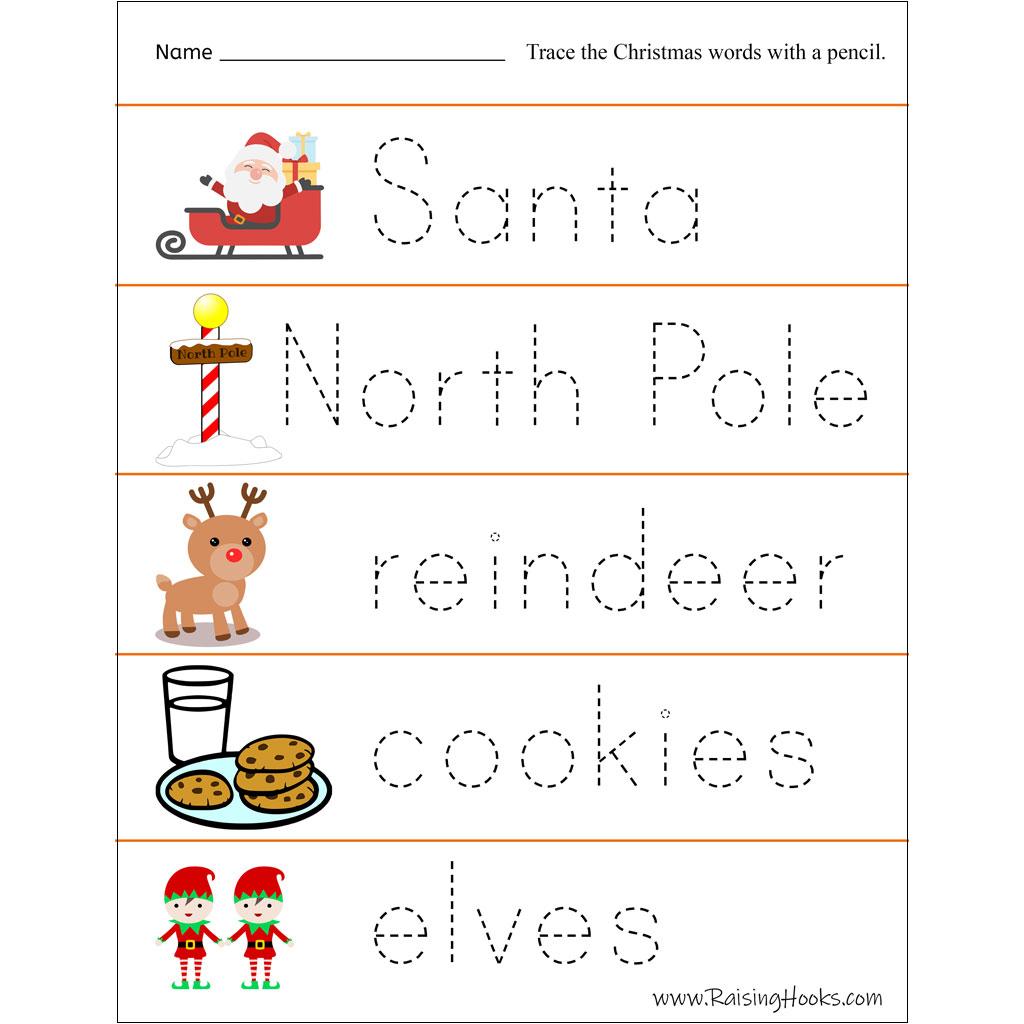 Christmas Tracing Worksheets - Raising Hooks