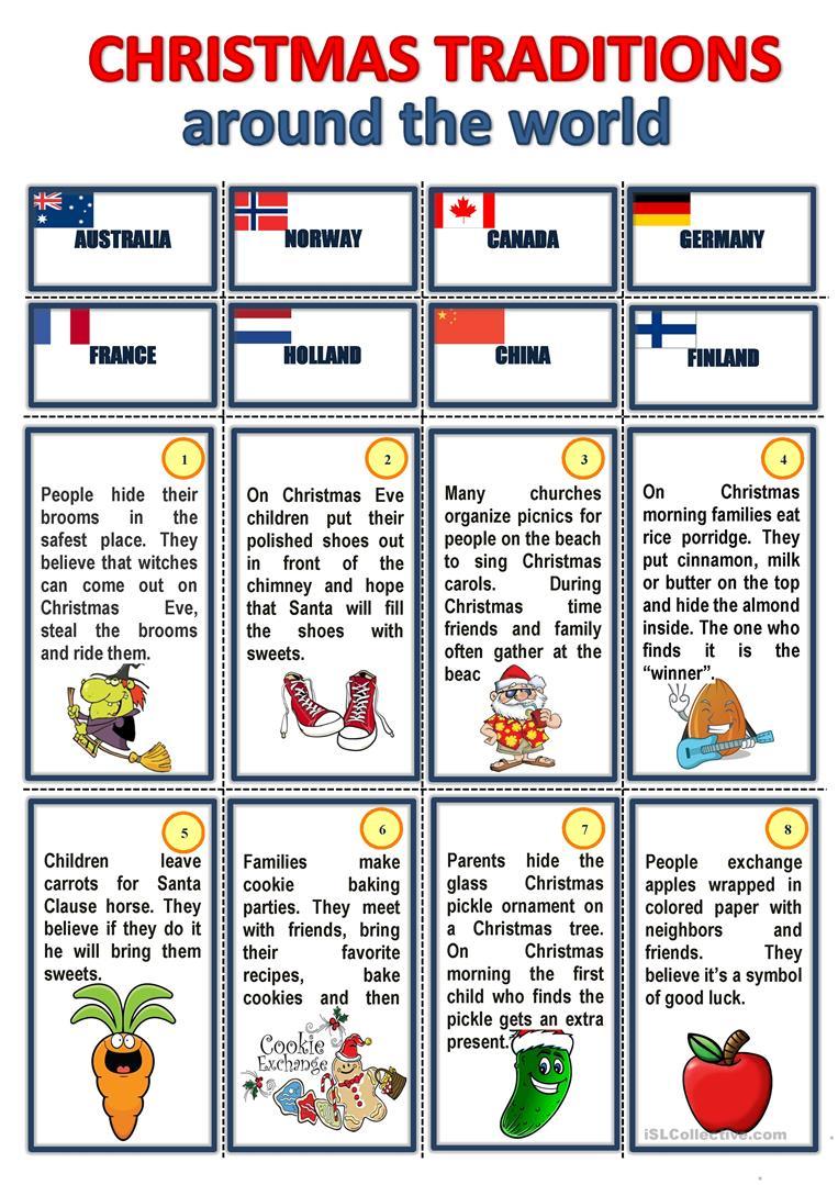 Christmas Traditions Around The World - English Esl