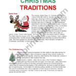 Christmas Traditions - Esl Worksheets.lefevre