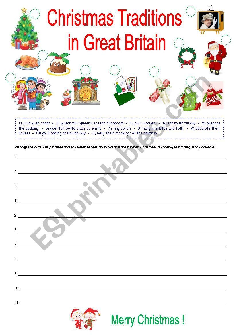 Christmas Traditions In Great Britain - Esl Worksheetkrysstl