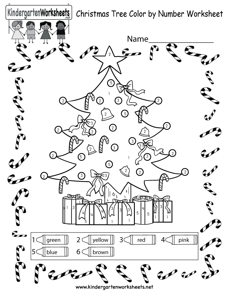 Christmas Tree Coloring Worksheet - Free Colornumber