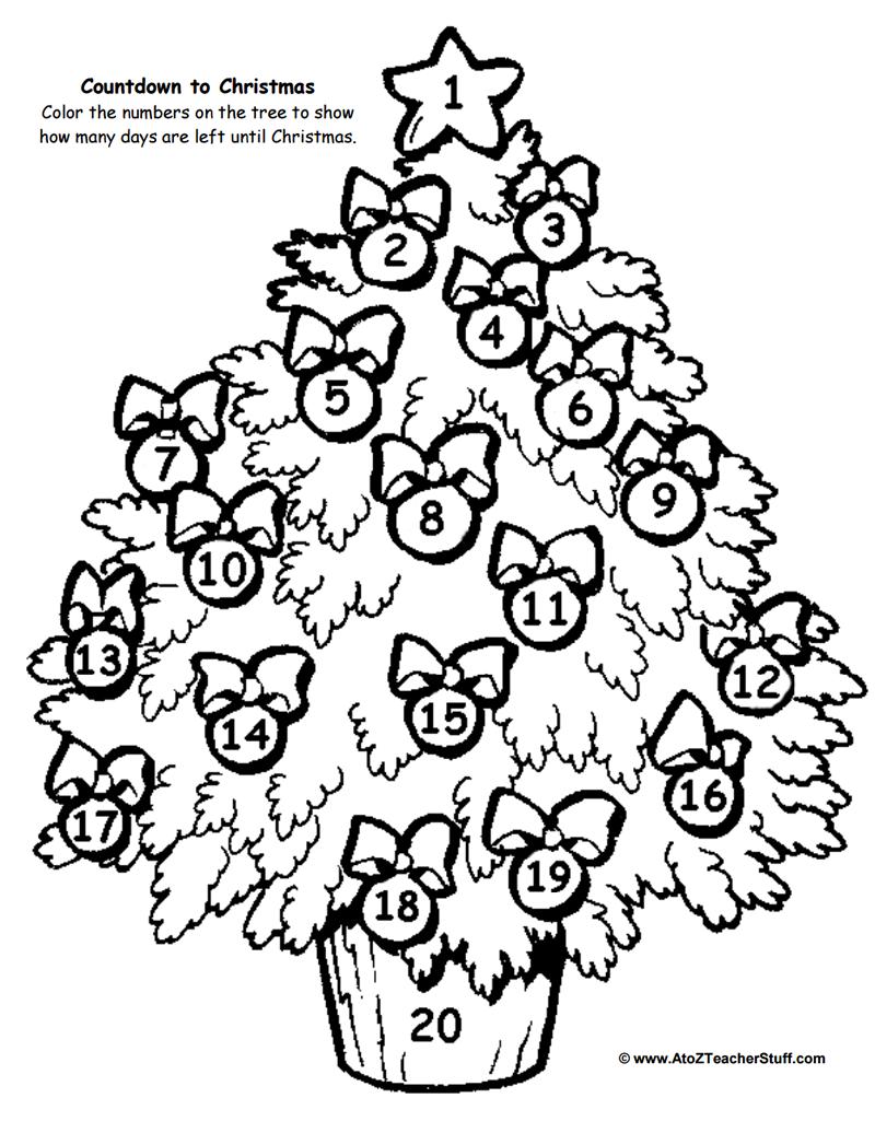 Christmas Tree Countdown Printable | A To Z Teacher Stuff