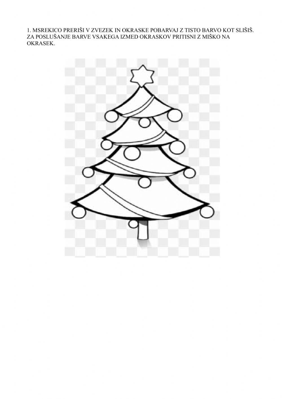 Christmas Tree Ornaments Worksheet
