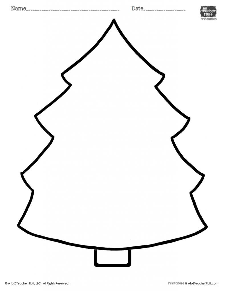 Christmas Tree Printable Page | A To Z Teacher Stuff